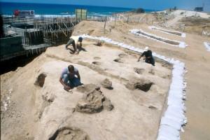 Badania w Aszkalonie; za:http://en.wikipedia.org/wiki/File:Ashkelon_Pre-Pottery_Neolithic_C_site.jpg